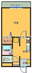 メゾン・ドゥ・ボヌール[1階]の間取り