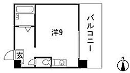 Calm西原[4階]の間取り