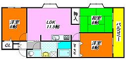 パレス・コート 301号室[3階]の間取り