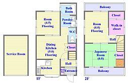 [一戸建] 兵庫県神戸市垂水区千鳥が丘3丁目 の賃貸【/】の間取り