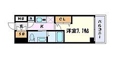 名古屋市営東山線 千種駅 徒歩5分の賃貸マンション 4階1Kの間取り