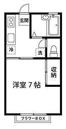 東京都狛江市岩戸南2の賃貸アパートの間取り