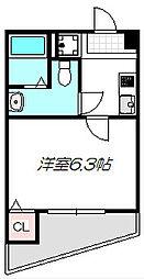 大阪府守口市馬場町3丁目の賃貸マンションの間取り
