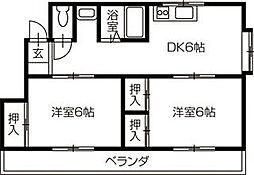 竹村ハイツ[301号号室]の間取り