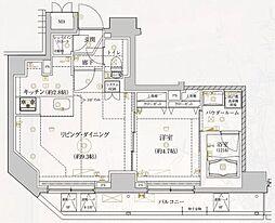 REALIZE浅草IV 8階1LDKの間取り