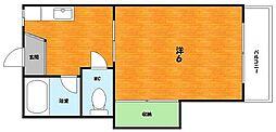 大阪府枚方市長尾家具町3丁目の賃貸アパートの間取り