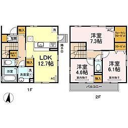 [一戸建] 東京都練馬区大泉学園町6丁目 の賃貸【/】の間取り