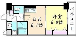 アフィーノ[5階]の間取り