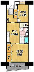 シティコート千島3丁目[6階]の間取り