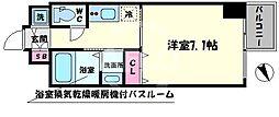 アール大阪グランデ 6階1Kの間取り