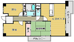 グリーンパークハイム[2階]の間取り