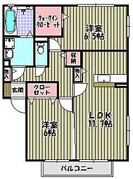 YU壱番館[1階]の間取り