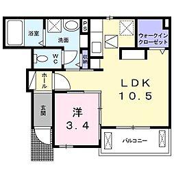 東京都練馬区石神井台4丁目の賃貸アパートの間取り