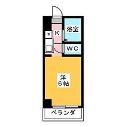 ドール津賀田[5階]の間取り