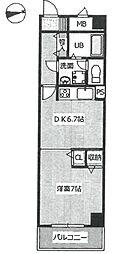 ブルネン武庫之荘[401号室]の間取り