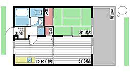 ハイツ・コンフォートI[1階]の間取り