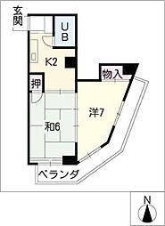 セゾン覚王山[4階]の間取り