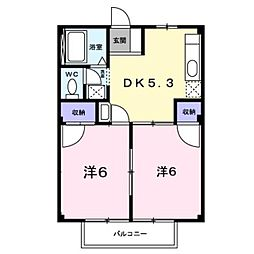 香川県坂出市築港町1丁目の賃貸アパートの間取り