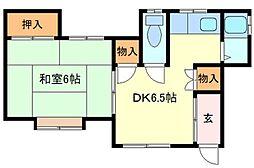 広島県呉市上畑町の賃貸アパートの間取り