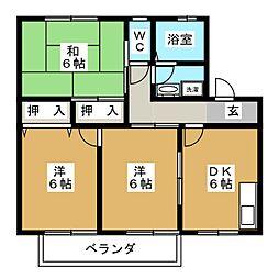 コンフォート橘[1階]の間取り