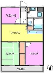 パークサイドオオタキ[3階]の間取り