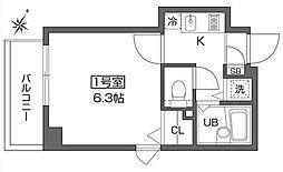 ベルファース早稲田[10階]の間取り