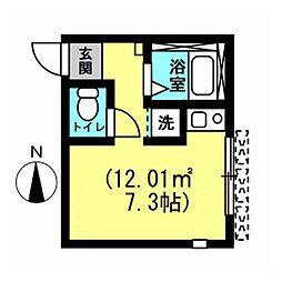 サンビレッジ川崎[1階]の間取り