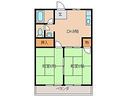 三重県鈴鹿市中旭が丘2丁目の賃貸マンションの間取り