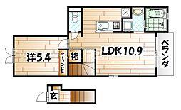スモールウッズタウンMAKI[2階]の間取り