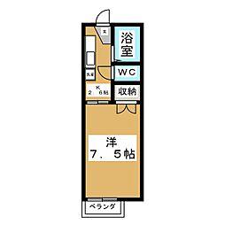 ジュネスNH[1階]の間取り