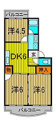 第2ヤマダマンション[2階]の間取り