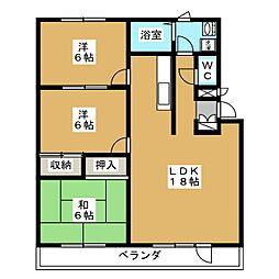 センチュリー八甲田[3階]の間取り