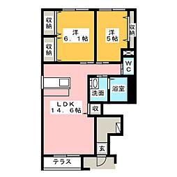 シンフォニーTOKIWA[1階]の間取り