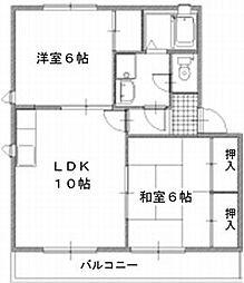 レガーロ寿里 B棟[B202号号室]の間取り