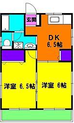 静岡県浜松市東区有玉台4丁目の賃貸アパートの間取り