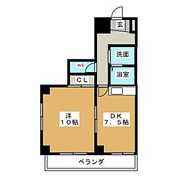 バンブー新栄[5階]の間取り