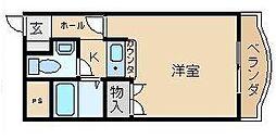 ヴィラ芥川[302号室]の間取り