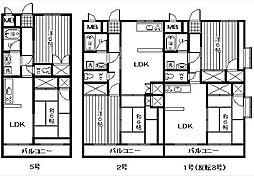 サンディッシュ久米[4階]の間取り