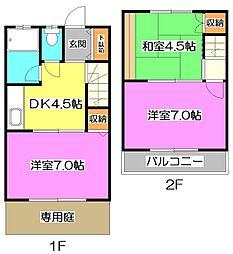 [テラスハウス] 東京都練馬区大泉町1丁目 の賃貸【/】の間取り