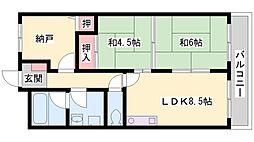 ベルトピア東加古川[202号室]の間取り