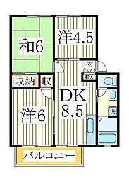 ジュネスコーポA[2階]の間取り