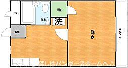 大阪府枚方市小倉東町の賃貸アパートの間取り