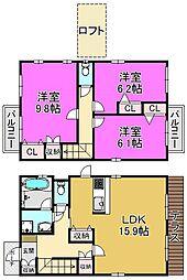 [タウンハウス] 大阪府堺市北区長曽根町 の賃貸【/】の間取り