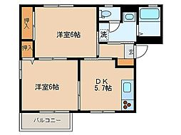 東京都江戸川区松江1丁目の賃貸アパートの間取り