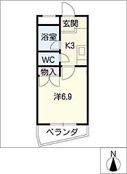 ベル・コモンズ八幡山[2階]の間取り