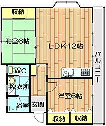 YSマンション (ワイエスマンション)[3階]の間取り