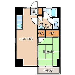 アメニティハウス[4階]の間取り
