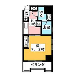 中駒一宮駅東マンション[10階]の間取り