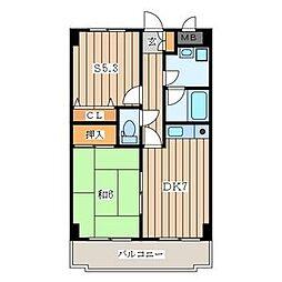 神奈川県横須賀市根岸町4丁目の賃貸マンションの間取り
