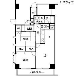宮前平ハイツ[701号室号室]の間取り